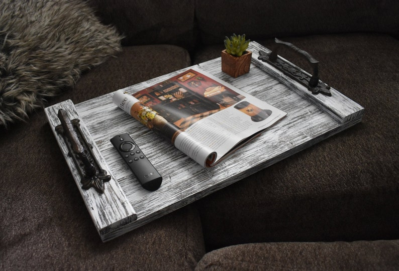 Ottoman Tray Rustic Home Decor Coffee Table Decor Fall Etsy