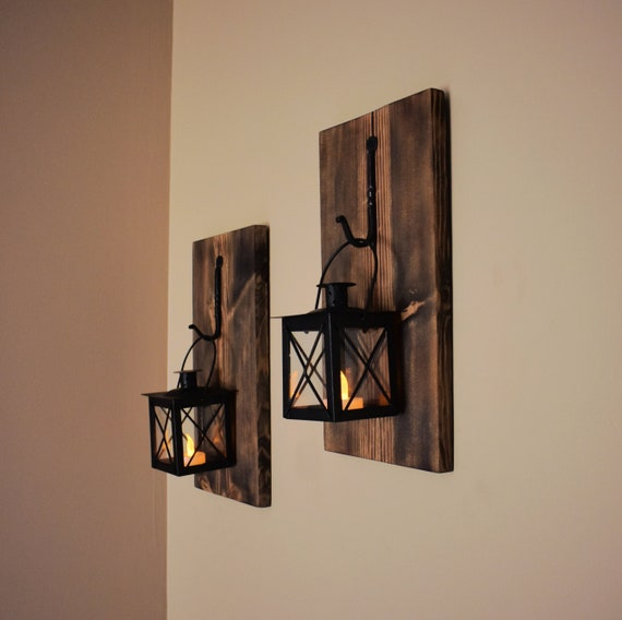 Rustic Wall Sconce Wall Candle Holder Wall Decor Christmas Gift Hanging Lantern Decor Rustic Wall Decor Lighted Wall Sconce