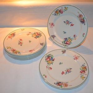Vintage Flirtation by Syracuse Fine China Silhouette Dinner Plates