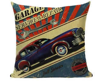Vintage Car Pillow Etsy