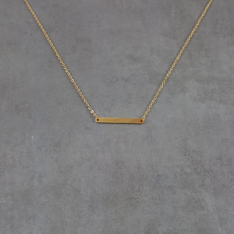 0243d50960c4 Redondeados de la barra collar cadena de oro moda para mujer