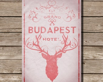 The Grand Budapest Hotel poster movie poster art print wes anderson Stag society of the crossed keys poster movie art fan art movie poster