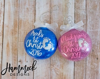 first Christmas, Christmas ornament, babys first Christmas ornament, baby ornament, baby's first, custom ornament, 2018 Christmas ornament