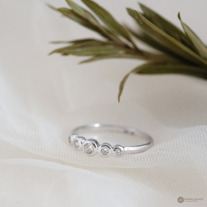 Balinese Jewelry Birthday Gift Wedding Gift Eternity Collection Allure Ring Balinese Style Gift Minimalit Style Rhodium Plated