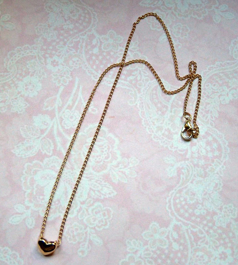 Little Heart \u2022 Chain Gold Colors Gold Gift Gift Birthday Valentine/'s Day Mother/'s Day Wider Sister Mom