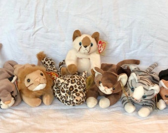 Mixed lot of 7 collectible retired Cat beanie babies~retired cat beanie  babies~beanie babies~retired beanie baby lot~set of cat beanies b8514096d9