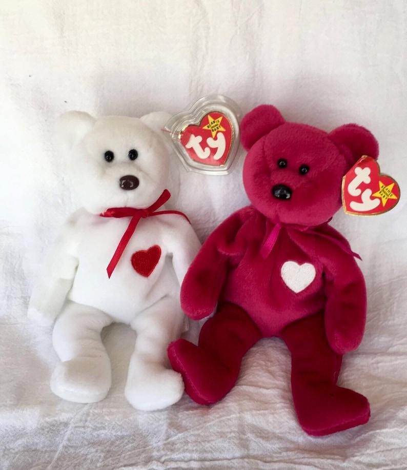 Valentino and valentina beanie babies beanie baby bears rare  de3e0978b543