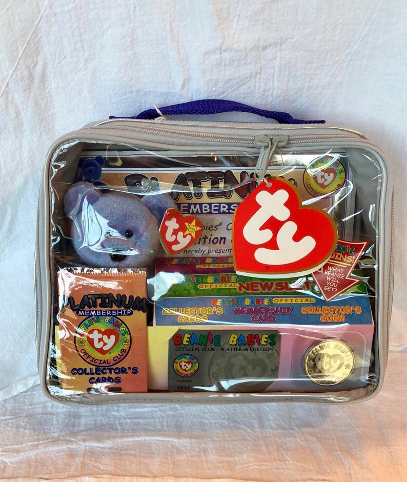 790e835b0b9 Vintage Ty Beanie Baby Platinum Membership Kit bagvintage