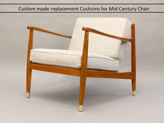 Replacement Cushions For Mid Century Chairs Custom Made Etsy