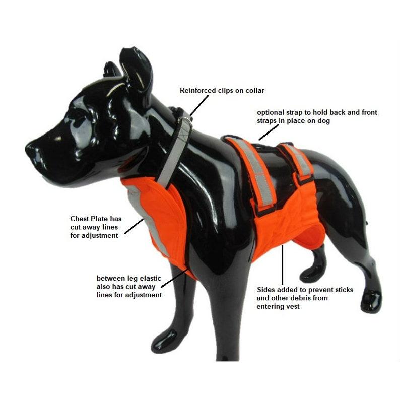 42e75e01fd2b5 Bird Dog Hunting Vest UnderBelly & Chest Protection | Etsy
