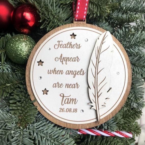 Ajouter tout nom en bois personnalisé babiole arbre de Noël, Personnalisé Babiole