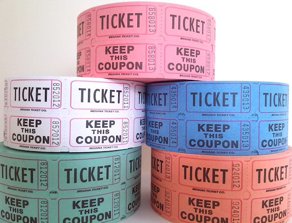 100 x Admit One Tickets Wedding Party Scrapbooking Craft Fair Admission green