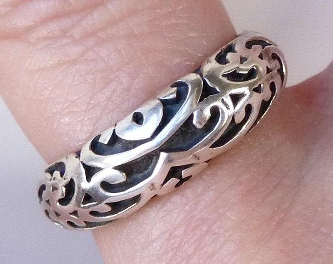 JALI Tribal Heavy Celtic Ring Solid Silver SilverSari YSAR1092