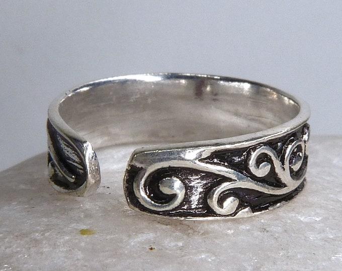 TOE RING #1 (Adjustable) Solid Silver SilverSari YSAR1083