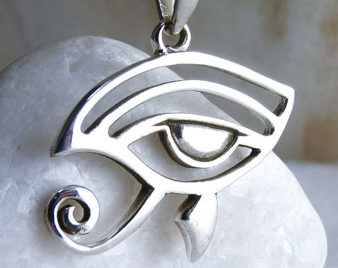 EYE OF HORUS Jali Protection Pendant Solid Silver SilverSari YPS1008