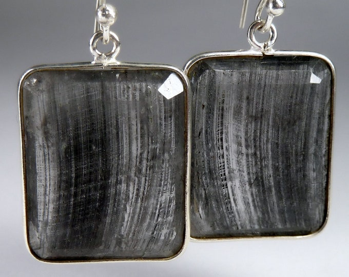Large QUARTZ Earrings Solid Silver SilverSari YEG1353