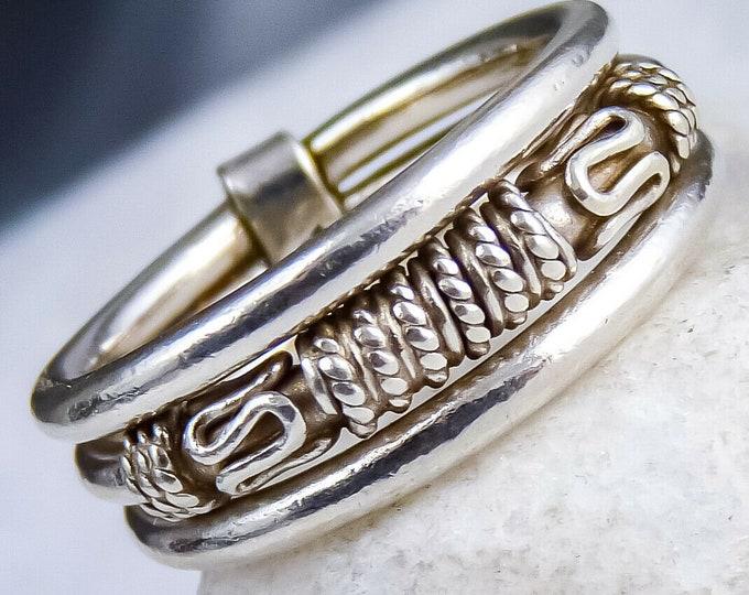 Filigree Finger/Thumb Ring Solid 925 Sterling Silver SilverSari YSAR1039