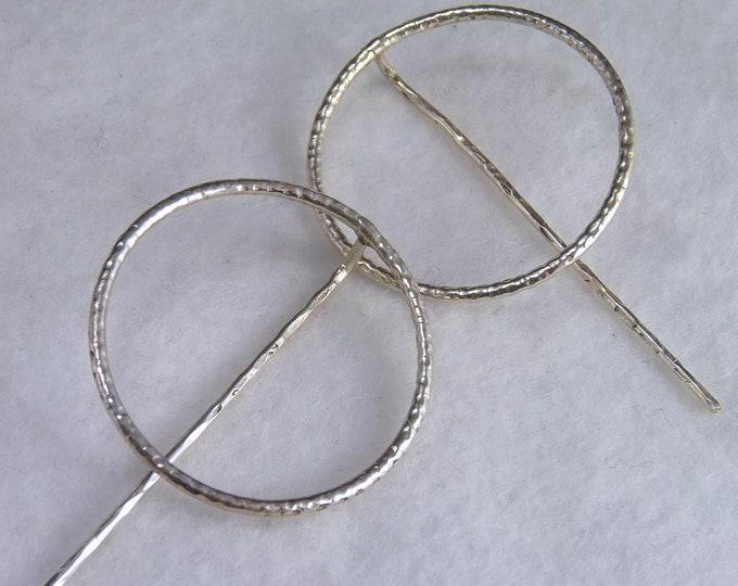 NEW 'O-HOOKS' Open Hoops Solid Silver Earrings SilverSari YES1253