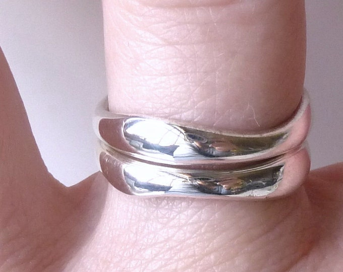 TWIN STACKERS SET #3 ~ 2 Single Hoops ~ 925 Sterling Silver SilverSari YSTR1022