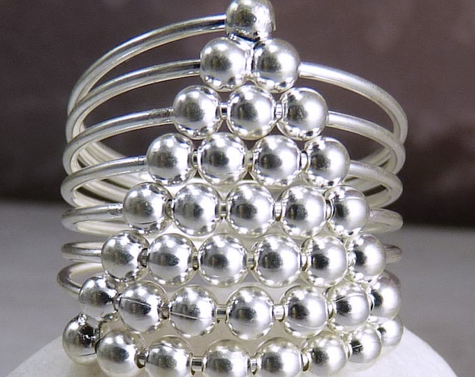 ABACUS Ring Spinning Beads 925 Sterling Silver ~ YSAR1025