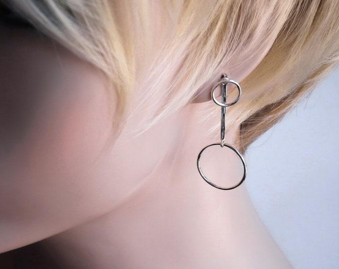 Sterling Silver 'O-STUD Drops' SilverSari Stud Earrings YES1268