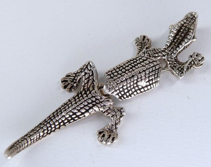 LIZARD Salamander Charm Pendant Solid Silver SilverSari YPS1117