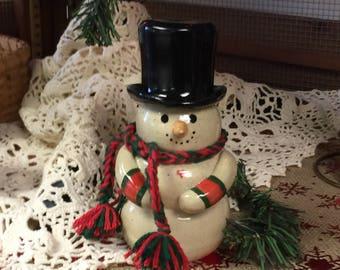 Ceramic snowman | OOAK snowman | Snowman collectible | Snowmen | Snowman |Snowman Art | Snowman Figurine