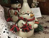 Free Shipping   OOAK snowman    Handmade ceramic snowman   Handmade snowmen   Snowman collectible   Snowmen   Snowman Art