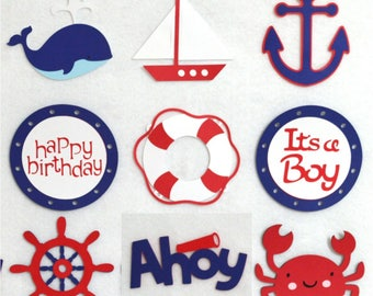 Invites 4-20 Nautical Life Saver Ring Die cut Embellishment Paper Piece 4 party