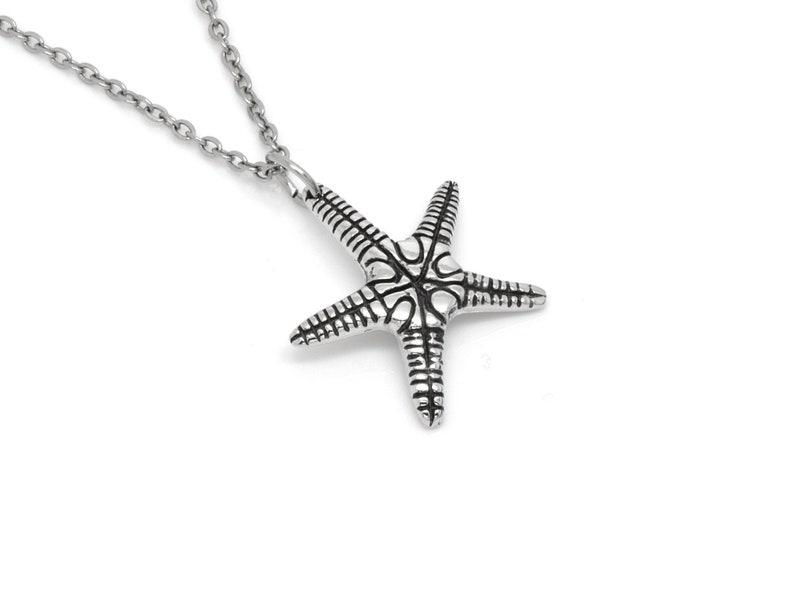 Star Shaped Animal Pendant Nautical Jewelry Starfish Necklace