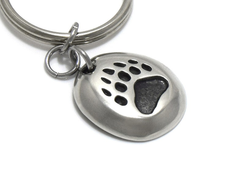 Grizzly Track Keychain Bear Footprint Charm