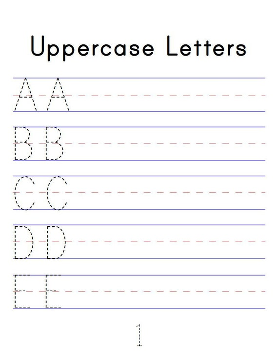Alphabet Tracing Workbook Digital Printable PDF Trace Abc Etsy