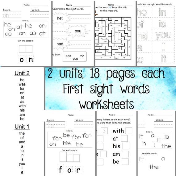 Kindergarten Readiness Sight Words Worksheets Bible Verses 2 Etsy