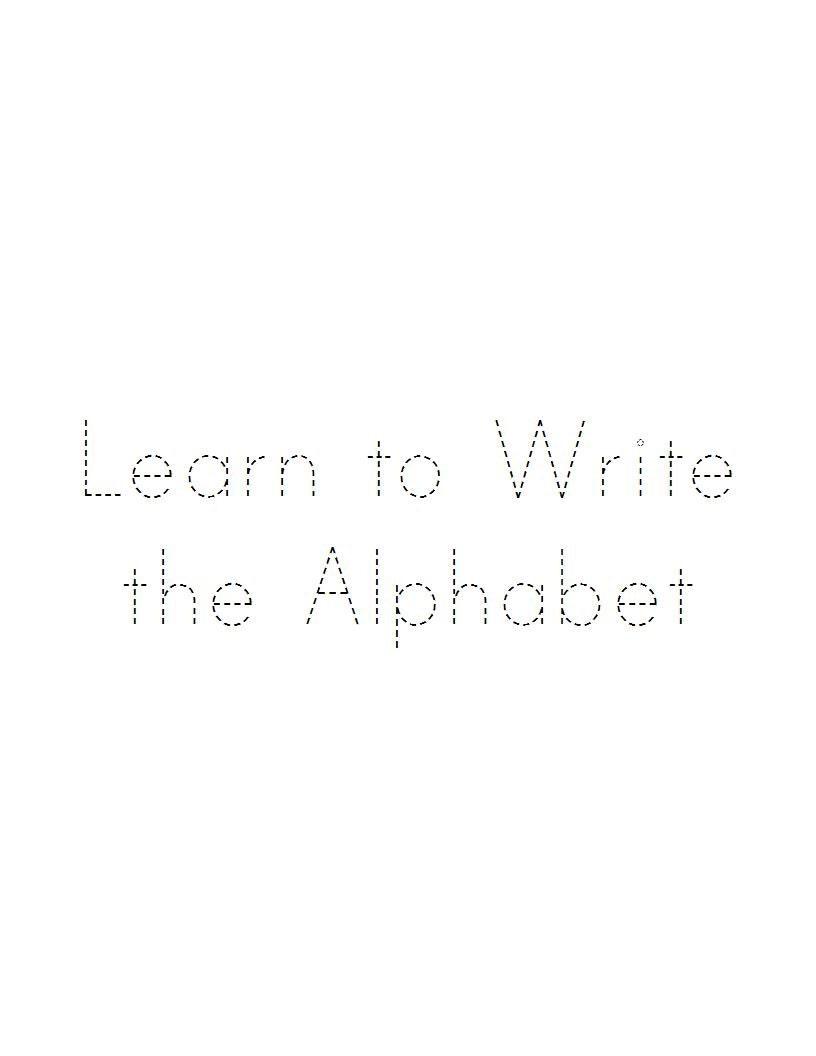 alphabet tracing workbook digital printable pdf trace abc etsy. Black Bedroom Furniture Sets. Home Design Ideas