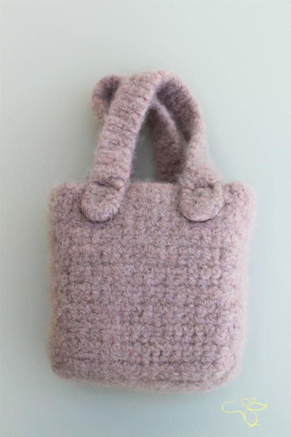 Mini Hand Tasche Korb gehäkelt und gefilzt Kinder | Etsy