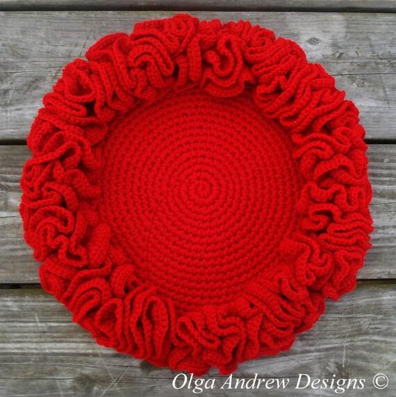 Weihnachten-Deckchen rote häkeldeckchen häkeldeckchen