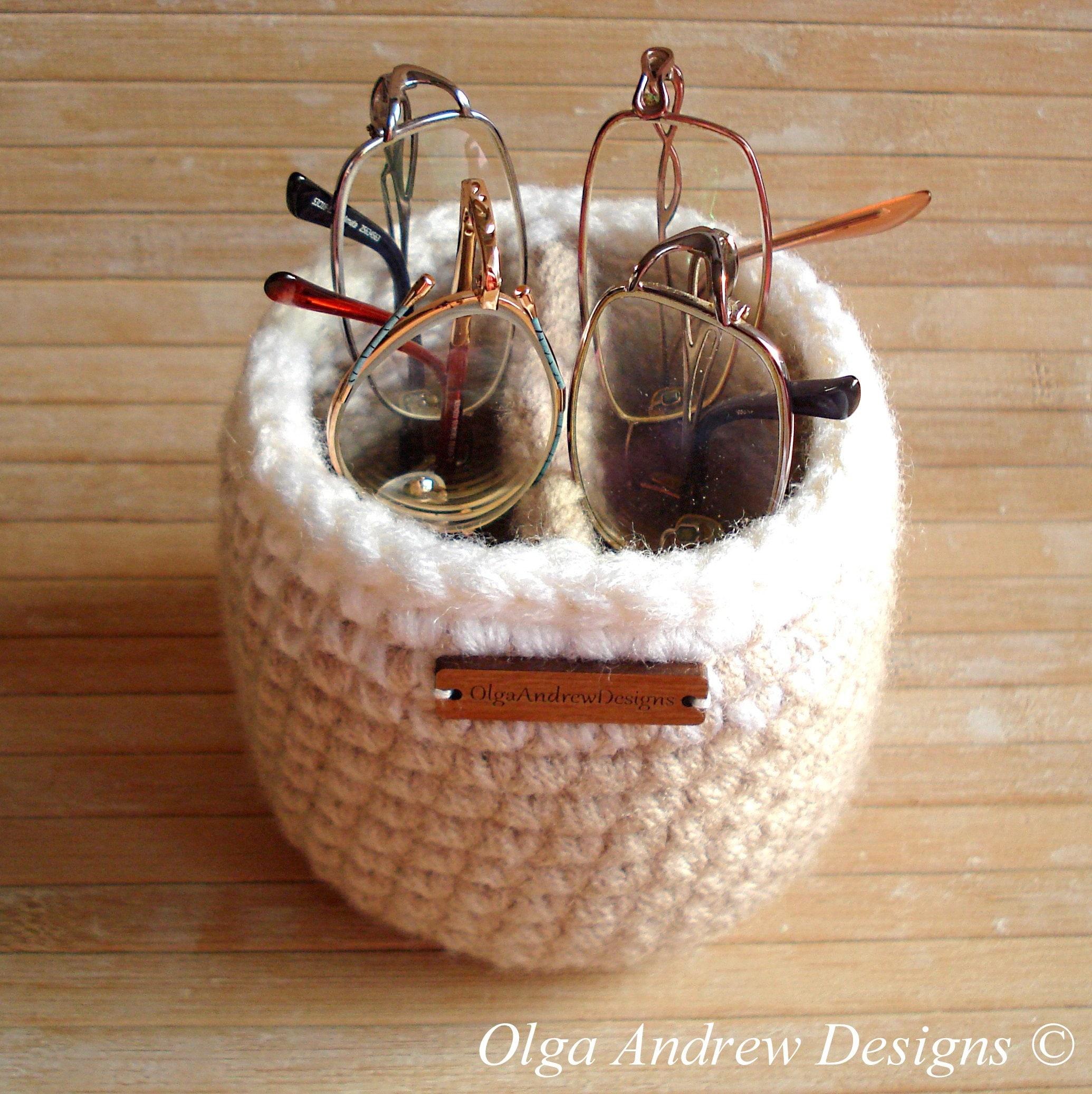 Medio redondo dividido gafas de varios pares y soporte del
