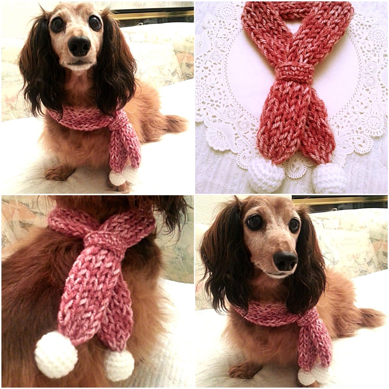 Dog Scarf Dog Collar Dog Bandana Dog Cowl Crocheted Scarf Etsy