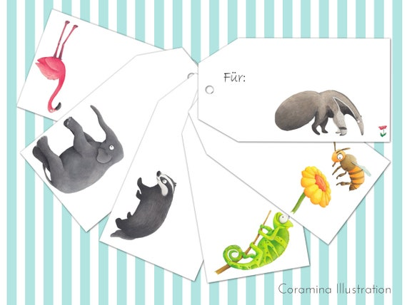 Geschenkanhänger Lustige Tiere Zum Ausdrucken