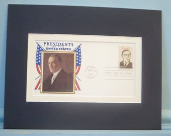 President Woodrow Wilson honored by the First day Cover of his stamp