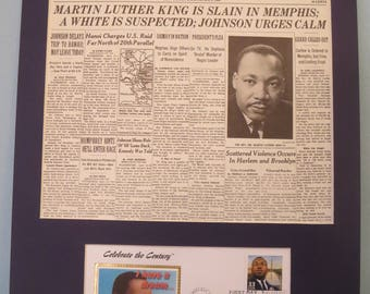 Martin Luther King - I Have a Dream & The Assassination of Martin Luther King and First day Cover of his own stamp
