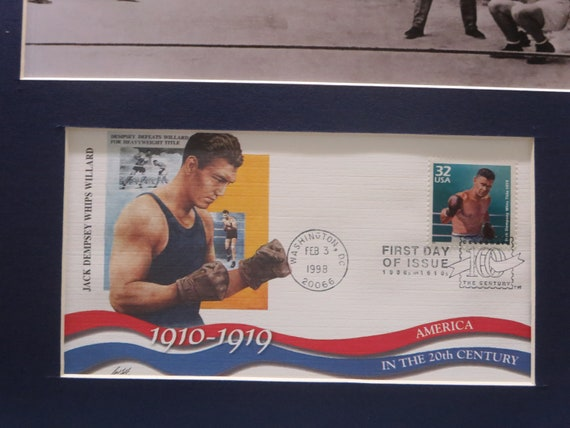Heavyweight Championship Jack Dempsey vs. Gene Tunney & the Long Count and First Day Cover of Jack Dempsey stamp