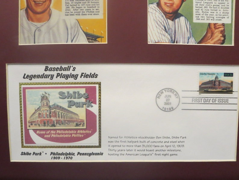 1950 Pennant Winners /& First Day Cover of the Shibe Park stamp Honoring the Philadelphia Phillies The Whiz Kids