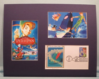 "Walt Disney's ""Peter Pan"" with Tinkerbelle and First Day Cover of the Peter Pan Stamp"