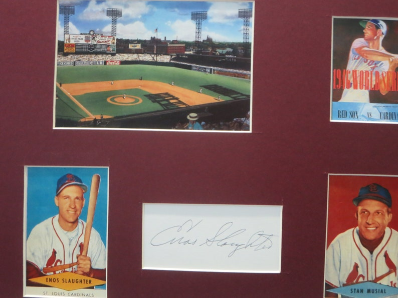 Honoring the St 1946 World Champions /& Enos Slaughter autograph Louis Cardinals led by Stan Musial and Enos Slaughter