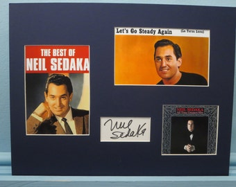 Rock and Roll Music Legend - Neil Sedaka and his autograph