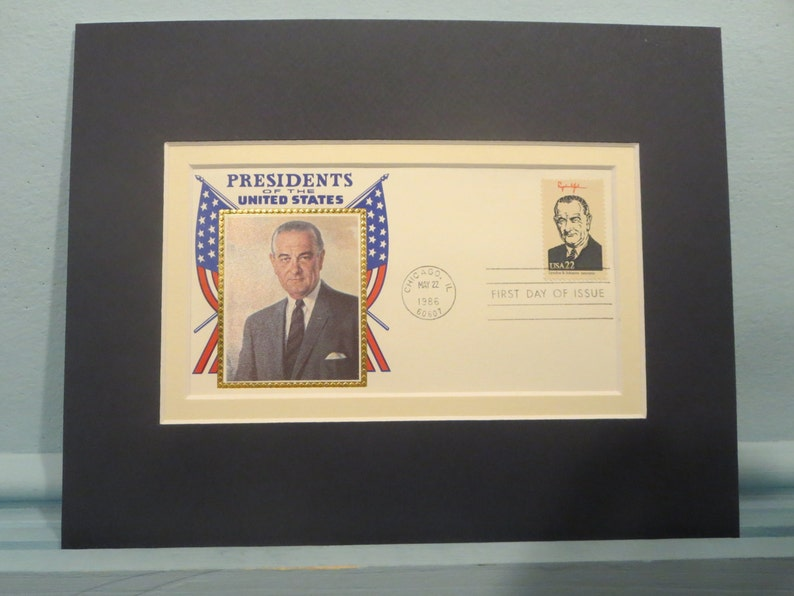 President Lyndon Johnson honored by First day Cover of his own stamp