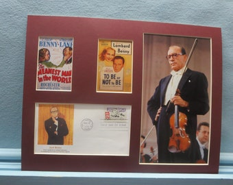Jack Benny - To Be or Not To Be & The Meanest Man in the World and the First Day Cover of his own stamp