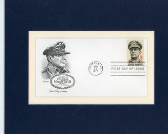 Honoring World War II Hero - General Douglas MacArthur and the First Day Cover of his own stamp