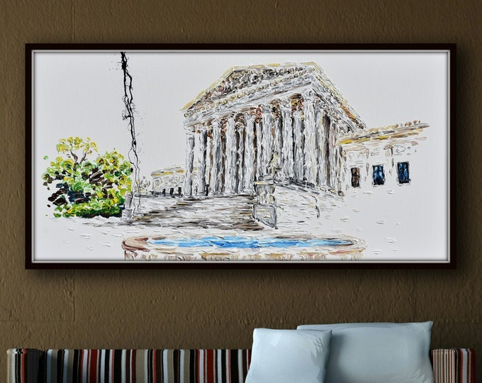 """Courthouse 55"""" - Amazing looks for Attorneys Lawyer Office,  Custom painting , can be for judges, lawyers, etc. By Koby Feldmos"""